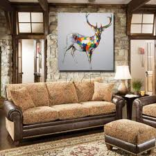 Painting For Home Interior Aliexpress Com Buy Modern Design Beautiful Color Deer Wall