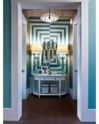 alcove in turquoise interiors by color
