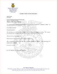 ffa certificate template 4 sle of meeting minutes outline templates