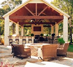 outstanding outdoor kitchen and fireplace designs 37 with