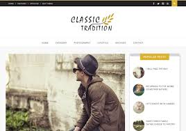 classic tradition blogger template u2022 blogspot templates 2018
