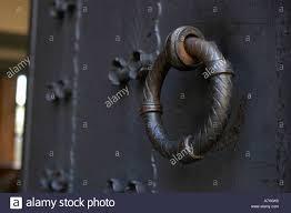 old door knocker in an antique castle in oslo norway c by uli