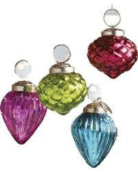 deal on decorative mercury glass hanging ornaments set of