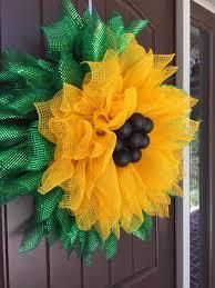 Halloween Picks For Wreaths by 2017 Sunflower With Black Ball Center Wreath Tutorial Trendy