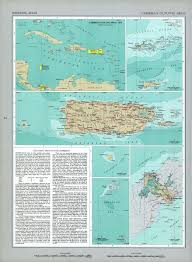 Map Of The Virgin Islands The National Atlas Of The United States Of America Perry