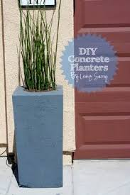 concrete planters this might work as little fire pots around the