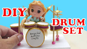 how to make a mini drum set for desk kids diy projects recycled