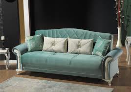canapé lit tissu canapé lit coffre velours turquoise simena chic a prix bas
