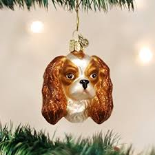world king charles spaniel glass