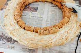 how to make a wreath how to make a wine cork wreath an american in rome