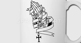 only god can judge me praying mug spreadshirt