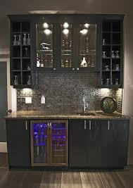 home wet bar design w glass backsplash kitchen designs by delta