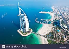 worlds only 7 star hotel in dubai uae called the burj al arab from