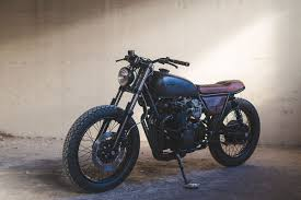 black honda motorcycle the dark art of building a cb cafe racer bike exif