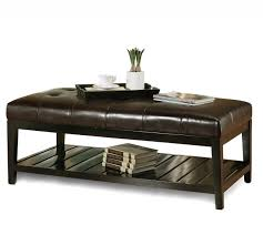 Oversized Coffee Table by Leather Ottoman Coffee Table Rectangle U2013 Triple Topped Bench