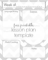 printable homeschool lesson plan template free lesson plan template printable delicate construction