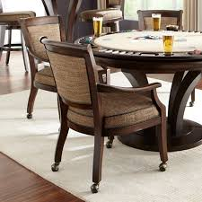 Poker Dining Table by Chairs W Swivel Base U0026 Custom Fabric Eastgate By Thos Baker
