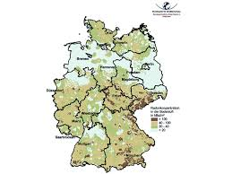 map o germany bfs radon in the soil the radon map of germany