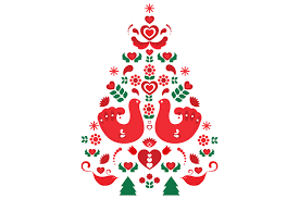 vector scandinavian christmas tree illustrations creative market