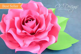 printable large flowers paper roses giant paper rose template printable pdf flower