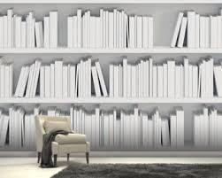 wallpaper that looks like bookshelves bookcase wallpaper wall murals wallsauce usa