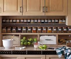 kitchen storage shelves ideas cabinet spice storage shelves via better homes and gardens
