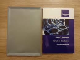triumph bonneville thruxton scrambler owners handbook manual