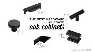 what hardware looks best on black cabinets the best hardware to update oak cabinets true design house