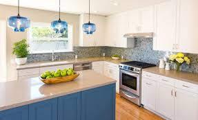 Glass Kitchen Pendant Lights Blue Glass Modern Lighting For Kitchens Pairs Well With