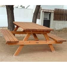 panchina in legno da esterno panche in legno da esterno avec set tavolo e panca in stile