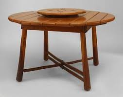 1940s Dining Room Furniture American Rustic Old Hickory 1940s Dining Table With A Round Oak