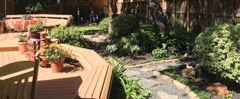 Backyard Wood Deck Decks Fencing And Gutters Discount Deck Fence U0026 Gutters