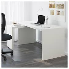 Cheap Computer Desks Ikea Malm Desk With Pull Out Panel Black Brown Ikea
