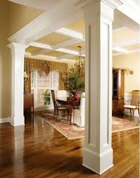 dining room columns open dining area defined columns traditional