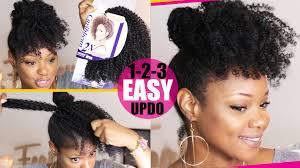 crochet style on balding hair crochet braid no braid curly updo natural hair tutorial fine