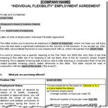 employee contract template non compete agreement