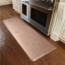 Kitchen Comfort Mats Estates Shades Of Gold Trellis Anti Fatigue Mats 6 X 2 Feet