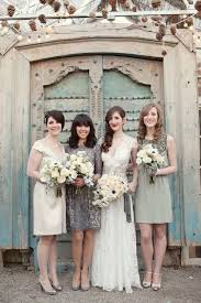 white and grey wedding dress 35 ideas for mix and match bridesmaid dresses