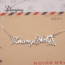 Custom Name Necklaces Online Shop Duoying Silver Custom Name Necklace For Etsy