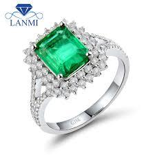 flower emerald rings images Natural diamond flower green emerald wedding ring design solid 18k jpg