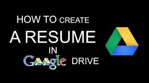 Resume Template Google Drive How To Create A Resume In Google Drive Youtube