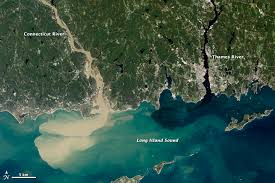 Connecticut rivers images Sediment spews from connecticut river image of the day jpg