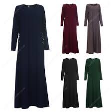 womens ladies long full beaded pocket abaya shirt dress maxi