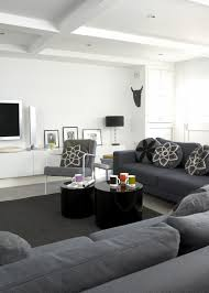 gray contemporary modern family room living room design ideas