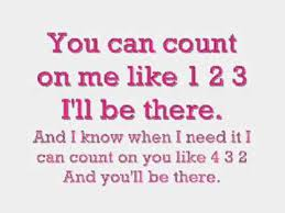 I Can Count On You Bruno Mars Bruno Mars Count On Me Mit Lyrics