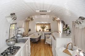 Cognac Kitchen Cabinets by Kitchen Sea Salt Paint In Kitchen Airstream Trailer Rental