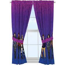 descendants u0027auradon damas u0027 curtain panel set of 2 walmart com