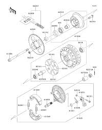2014 kawasaki klx110 klx110cef rear hub parts best oem rear hub