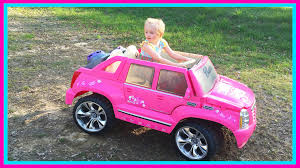 pink glitter car barbie power wheels ride on car u0026 step 2 roller coaster toys for