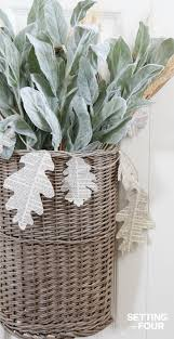 easy to make fall decorations easy diy fall basket wreath with book page garland wreaths